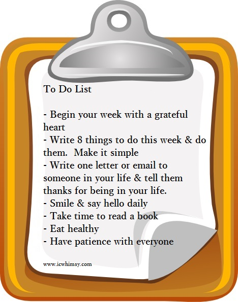 To do list 9.2014